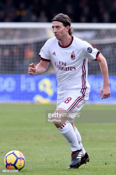 Riccardo Montolivo of Milan during the Serie A match between Benevento and Milan at Ciro Vigorito Stadium Benevento Italy on 3 December 2017