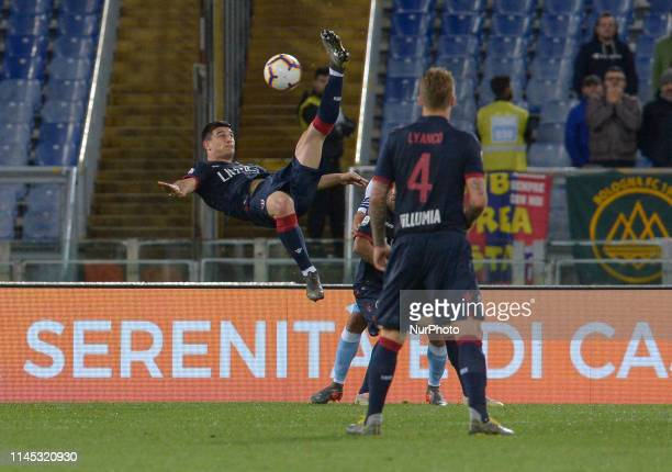 Riccardo Orsolini during the Italian Serie A football match between SS Lazio and Bologna at the Olympic Stadium in Rome on may 20 2019