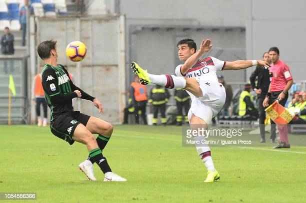Riccardo Orsolini of Bologna FC in action during the Serie A match between US Sassuolo and Bologna FC at Mapei Stadium Citta' del Tricolore on...