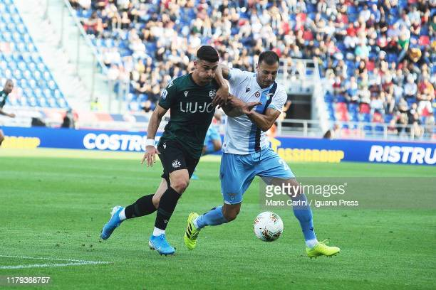 Riccardo Orsolini of Bologna FC in action during the Serie A match between Bologna FC and SS Lazio at Stadio Renato Dall'Ara on October 06 2019 in...
