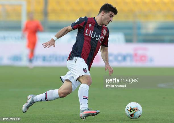 Riccardo Orsolini of Bologna FC in action during the Serie A match between Parma Calcio and Bologna FC at Stadio Ennio Tardini on July 12 2020 in...