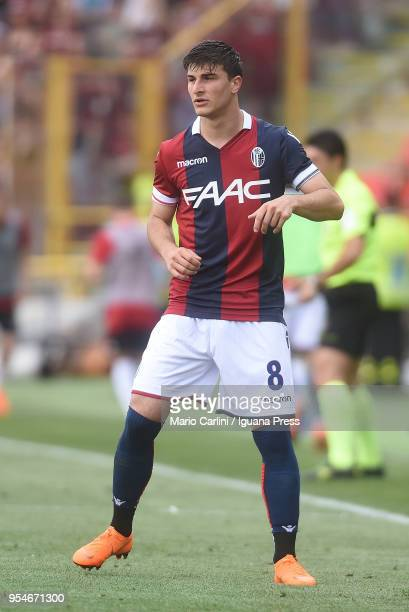 Riccardo Orsolini of Bologna FC looks on during the serie A match between Bologna FC and AC Milan at Stadio Renato Dall'Ara on April 29 2018 in...