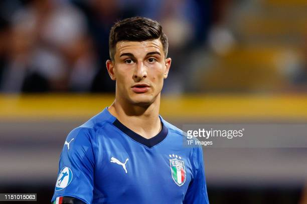 Riccardo Orsolini of Italy looks on during the 2019 UEFA U21 Group A match between Italy and Poland at Renato Dall'Ara Stadium on June 19 2019 in...