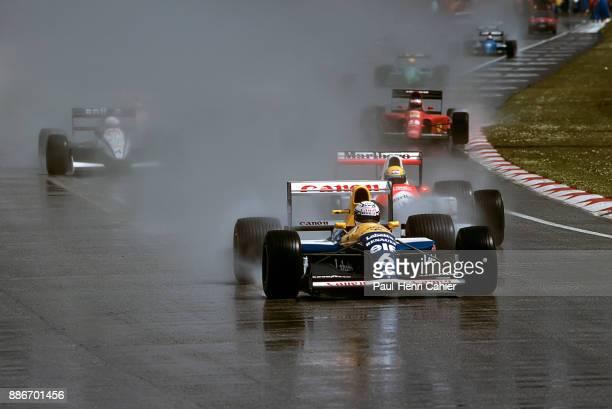 Riccardo Patrese Ayrton Senna WilliamsRenault FW14 McLarenHonda MP4/6 Grand Prix of San Marino Autodromo Enzo e Dino Ferrari Imola 28 April 1991...
