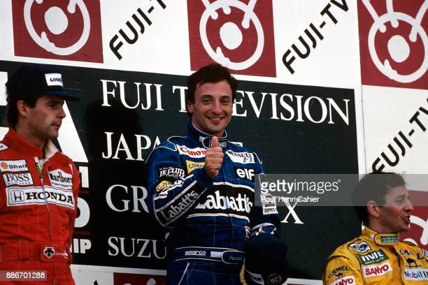 Riccardo Patrese Gerhard Berger Martin Brundle Grand Prix of Japan Suzuka Circuit 25 October 1992