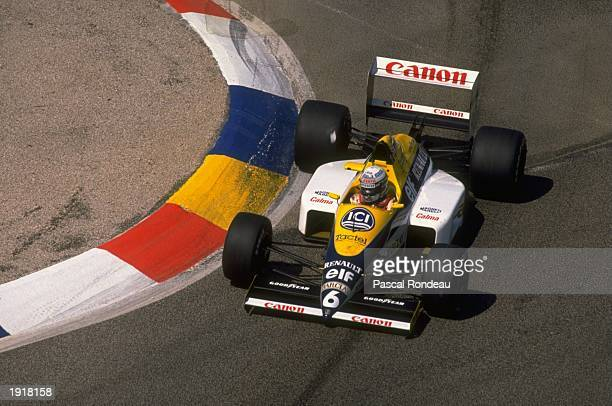 Riccardo Patrese of Italy cuts close to a corner in his Williams Renault during the French Grand Prix at the Paul Ricard circuit in Le Beausset...