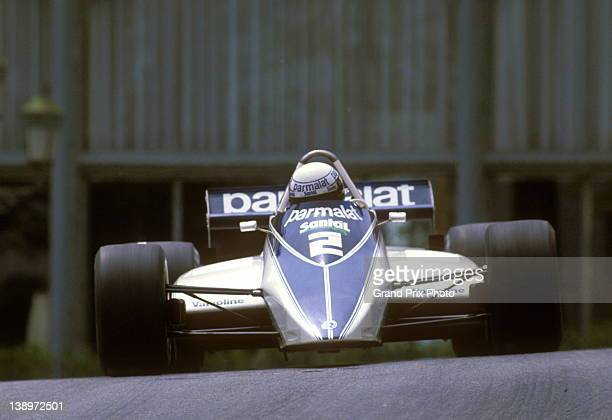 Riccardo Patrese of Italy drives the Parmalat Racing Team Brabham BT49D Cosworth V8 during the Monaco Grand Prix on 23rd May 1982 on the streets of...