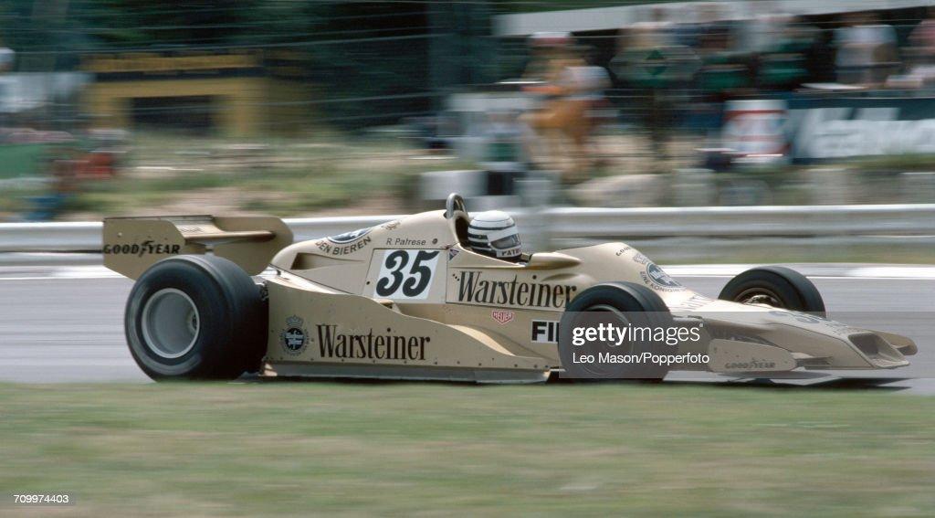 Formula One Grand Prix - Riccardo Patrese : News Photo