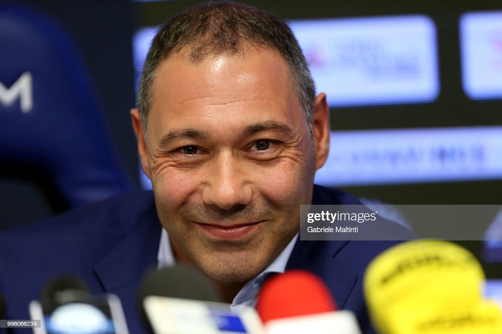 Riccardo Pecini of Empoli FC during the press conference on July 11, 2018 in Empoli, Italy.
