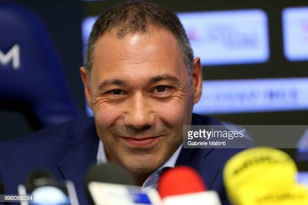 Riccardo Pecini of Empoli FC during the press conference on July 11 2018 in Empoli Italy