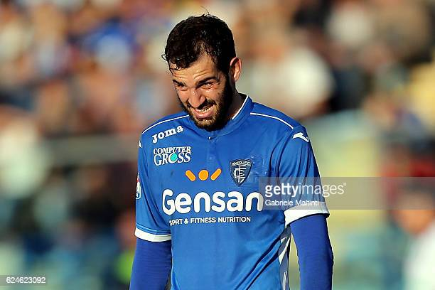 Riccardo Saponara of Empoli FC shows his dejection during the Serie A match between Empoli FC and ACF Fiorentina at Stadio Carlo Castellani on...
