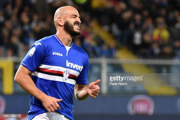 Riccardo Saponara of Sampdoria disappointment during the Serie A match between UC Sampdoria and US Sassuolo at Stadio Luigi Ferraris on October 22...