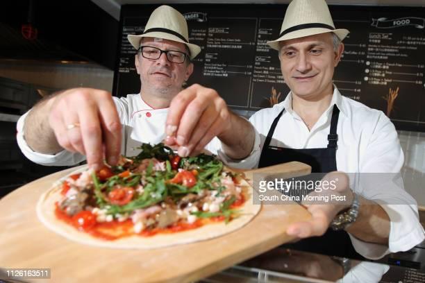 Riccardo Scaioli and Gian Franco Razzani Grano Italiano Pizza Tailor in Tsim Sha Tsui 15APR14
