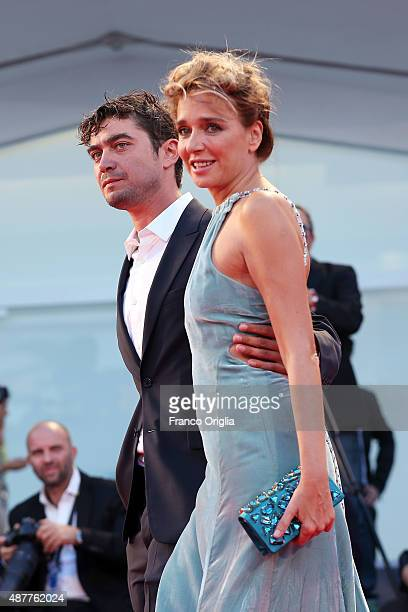 Riccardo Scamarcio and Valeria Golino attend a premiere for 'Per Amor Vostro' during the 72nd Venice Film Festival at Sala Grande on September 11...