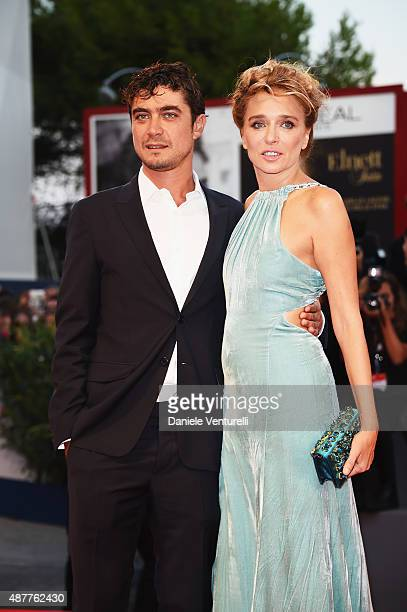 Riccardo Scamarcio and Valeria Golino attend a premiere for 'Per Amor Vostro' during the 72nd Venice Film Festival at Palazzo del Casino on September...