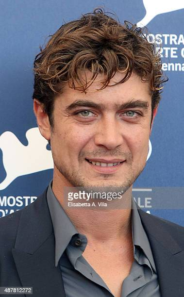 Riccardo Scamarcio attends a photocall for 'Per Amor Vostro' during the 72nd Venice Film Festival at Palazzo del Casino on September 11 2015 in...