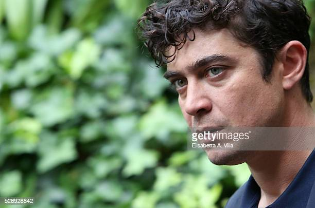 Riccardo Scamarcio attends a photocall for 'Pericle Il Nero' at Jardin De Russie on May 7 2016 in Rome Italy