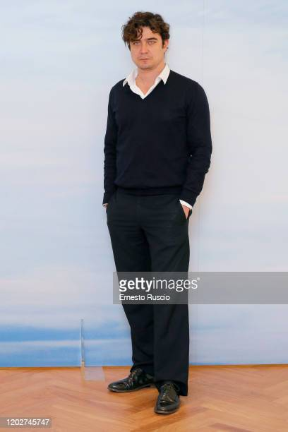 Riccardo Scamarcio attends Il Ladro Di Giorni Photocall on January 29 2020 at Hotel Naiadi in Rome Italy