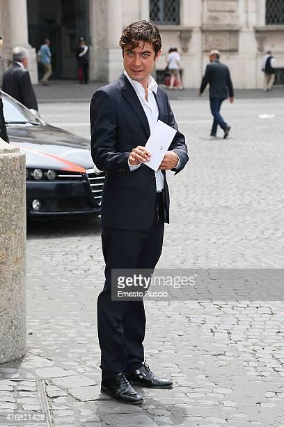 Riccardo Scamarcio attends the '2015 David Di Donatello' Nominees at Palazzo del Quirinale on June 12 2015 in Rome Italy