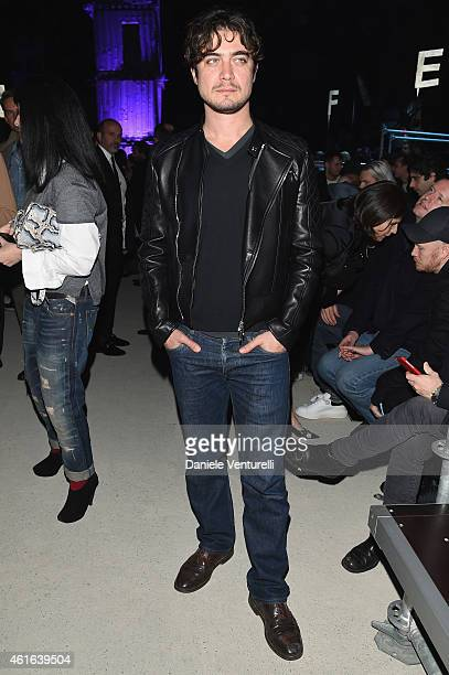 Riccardo Scamarcio attends the Dsquared2 during the Milan Menswear Fashion Week Fall Winter 2015/2016 on January 16 2015 in Milan Italy