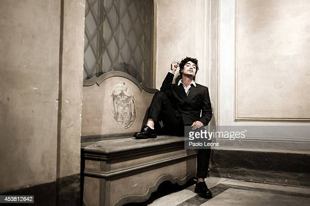 Riccardo Scamarcio is photographed for L'Uomo Vogue in Rome Italy