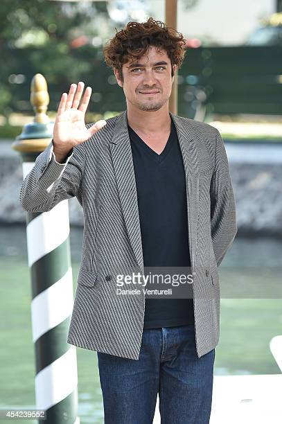 Riccardo Scamarcio is seen on Day 1 of the 71st Venice International Film Festival on August 27 2014 in Venice Italy