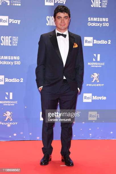 Riccardo Scamarcio walks a red carpet ahead of the 64 David Di Donatello awards ceremony Red Carpet on March 27 2019 in Rome Italy