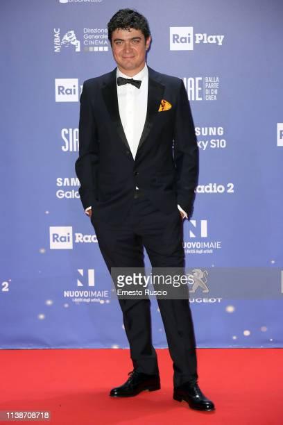 Riccardo Scamarcio walks a red carpet ahead of the 64 David Di Donatello awards ceremony Red Carpet on March 27 2019 in Rome Italy