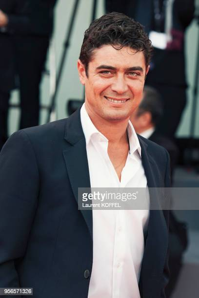 Riccardo Scamarcio walks the red carpet ahead of the 'Suburbicon' screening during the 74th Venice Film Festival at Sala Grande on September 2 2017...