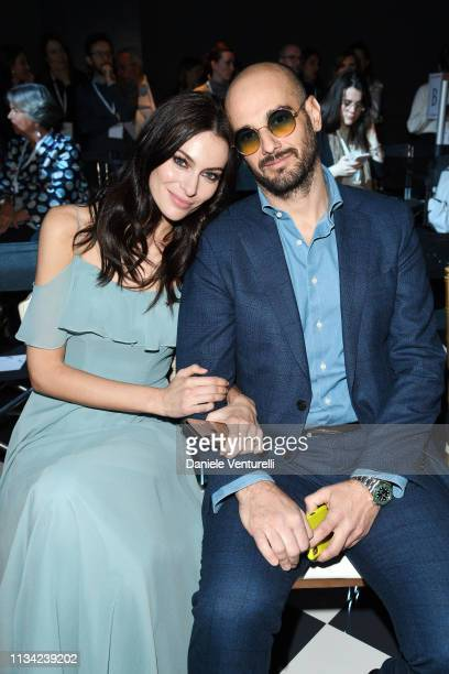 Riccardo Serpella and Paola Turani attends Atelier EME Fashion Show on March 07 2019 in Verona Italy