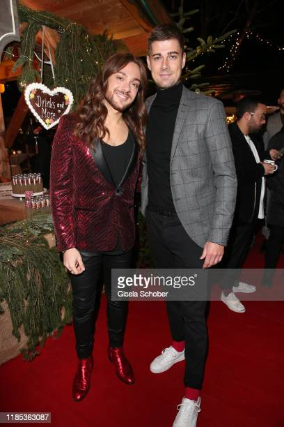 Riccardo Simonetti and Dustin Schoene at the Lena Gercke x ABOUT YOU Christmas Dinner and Party at Hotel Stanglwirt on November 28 2019 in Going near...
