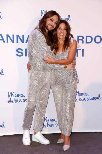 "DEU: Riccardo Simonetti & Anna Simonetti Present Their New Book ""Mama, ich bin schwul"" In Berlin"