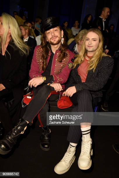 Riccardo Simonetti and Jack Strify attend the Riani show during the MBFW Berlin January 2018 at ewerk on January 16 2018 in Berlin Germany