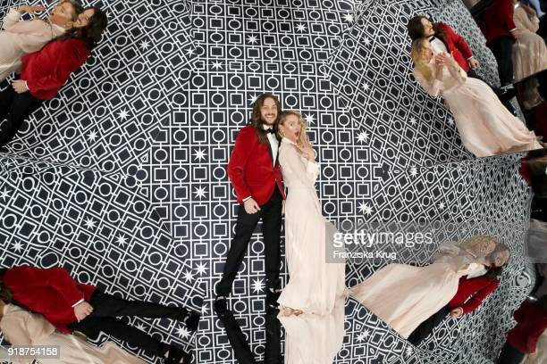 Riccardo Simonetti and Lilly zu SaynWittgensteinBerleburg attend the Bulgari 'RVLE YOUR NIGHT' event during the 68th Berlinale International Film...