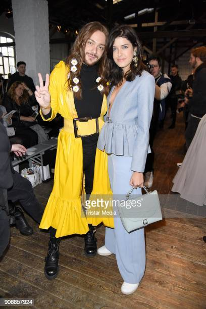 Riccardo Simonetti and Marie Nasemann during the Marina Hoermanseder Defile during 'Der Berliner Salon' AW 18/19 at Von Greifswald on January 18,...
