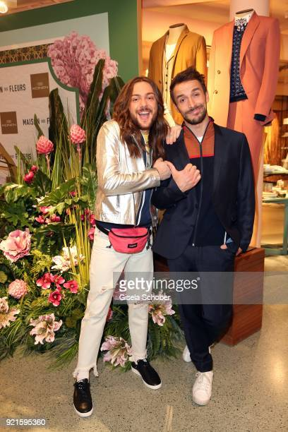 Riccardo Simonetti and Max Alberti during the 'Maison des Fleurs' photo session at KONEN on February 20 2018 in Munich Germany