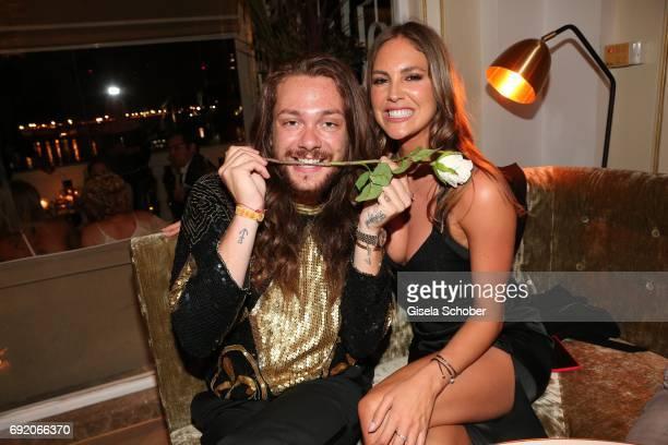 Riccardo Simonetti and model Maria Imizcoz during the Zhero hotel and 'Bahia Mediterraneo' restaurant opening on June 3, 2017 in Palma de Mallorca,...