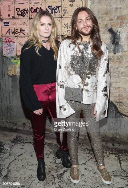 Riccardo Simonetti and Musician Jack Strify during the Maybelline Show 'Urban Catwalk Faces of New York' at Vollgutlager on January 18 2018 in Berlin...