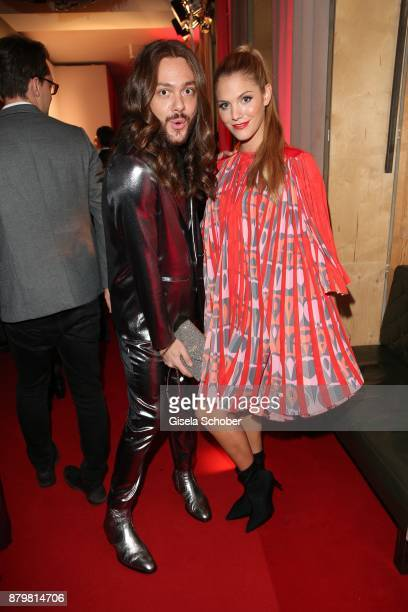 Riccardo Simonetti and Viviane Geppert during the New Faces Award Style 2017 at 'The Grand' hotel on November 15 2017 in Berlin Germany