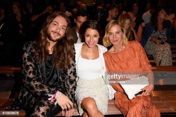 Riccardo Simonetti, Anna Julia Kapfelsperger and Nadeshda Brennicke attend the MICHALSKY StyleNite during the Mercedes-Benz Fashion Week Berlin...