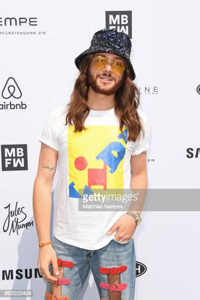 Riccardo Simonetti attends the Marina Hoermanseder show during the Berlin Fashion Week Spring/Summer 2019 at ewerk on July 5 2018 in Berlin Germany