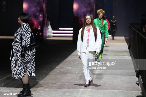 Riccardo Simonetti during the ABOUT YOU fashion week, AYFW, show production at Kraftwerk on January 22, 2021 in Berlin, Germany.
