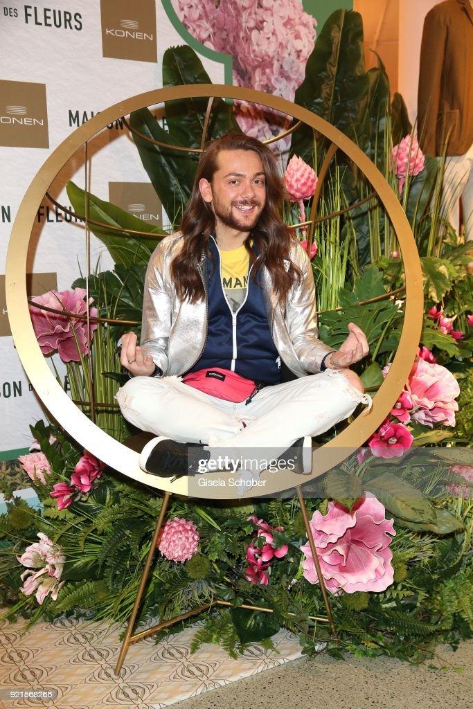 Riccardo Simonetti during the 'Maison des Fleurs' photo session at KONEN on February 20, 2018 in Munich, Germany.
