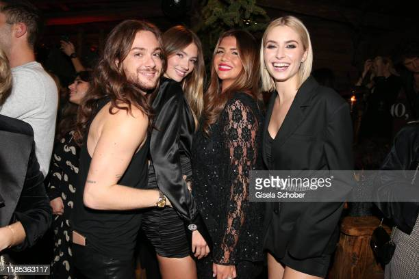 Riccardo Simonetti Lorena Rae Farina Opoku and Lena Gercke at the Lena Gercke x ABOUT YOU Christmas Dinner and Party at Hotel Stanglwirt on November...