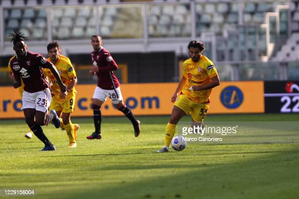 Riccardo Sottil of Cagliari Calcio in action during the Serie A match between Torino Fc and Cagliari Calcio Cagliari Calcio wins 32 over Torino Fc