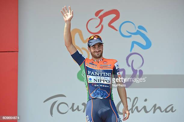Riccardo Stacchiotti from Nippo Vini Fantini takes the Yellow Jersey race leader after the 116km Liling Circuit Race third stage of the 2016 Tour of...