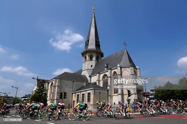 Riccardo Stacchiotti of Italy and Team Vini Zabu' Brado KTM, Emils Liepins of Latvia and Team Trek - Segafredo, Oscar Riesebeek of Netherlands and...