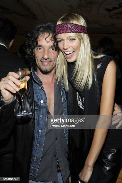 Riccardo Tinelli and Christina Tosio attend Moet Chandon hosts the Launch of Ben Watt's 'LICKSHOT' and the new Morgans Hotel Group CD at Hudson Hotel...
