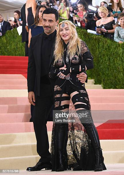 Riccardo Tisc and Madonna attend the 'Manus x Machina Fashion In An Age Of Technology' Costume Institute Gala at Metropolitan Museum of Art on May 2...