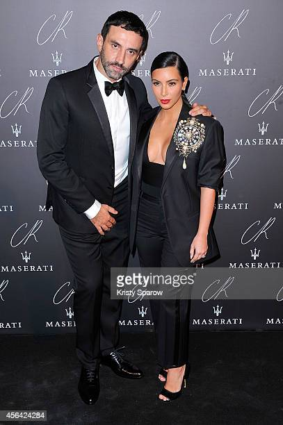 Riccardo Tisci and Kim Kardashian attend the CR Fashion Book Issue No5 Launch Party Hosted by Carine Roitfeld and Stephen Gan at The Peninsula Paris...